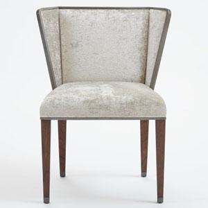 Argento Crushed Velvet Chair
