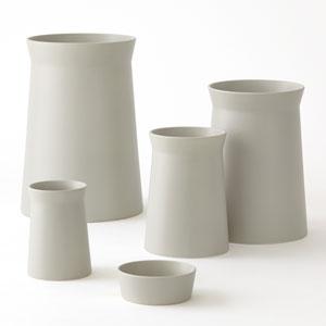 Soft Curve Haze Medium Vase