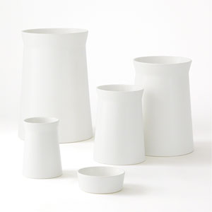Barbara Barry Moon Small Soft Curve Vase Only