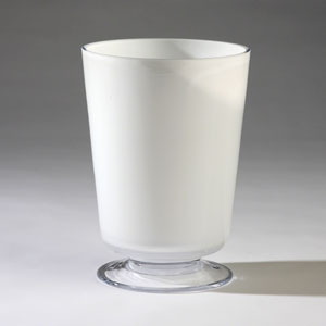 Barbara Barry White Medium Clean Line Vase