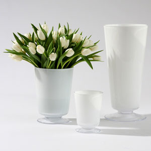 Barbara Barry White Large Clean Line Vase