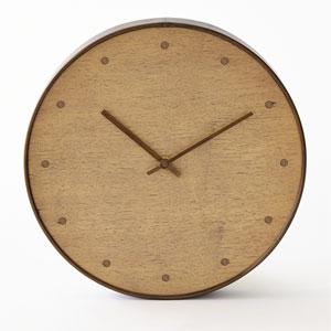Bleached Walnut Wall Clock