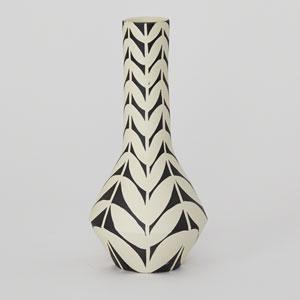 DwellStudio Black and Ivory Orsino Vase