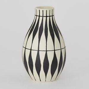 DwellStudio Black and Ivory Napoli Vase