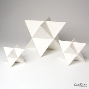 Star Matte White Objet, Set of Three