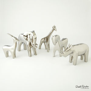 Bright Silver Elephant