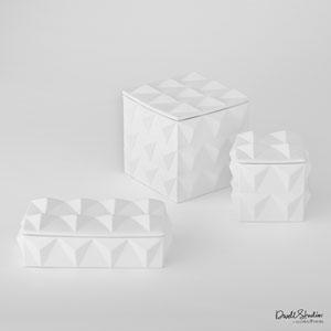 DwellStudio Matte White Small Braque Storage Box Only