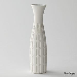 DwellStudio Matte White Malin Vase