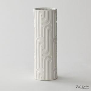 DwellStudio Matte White Lang Vase
