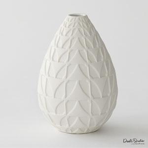 DwellStudio Matte White Norden Vase