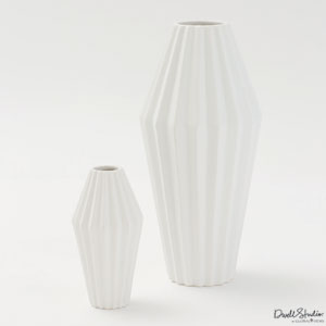 Milos Matte White Small Vase