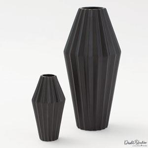 Milos Matte Black Small Vase