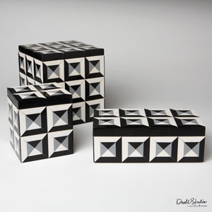 DwellStudio Multicolor Deco Border Rectangle Box Only