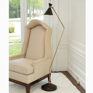 DwellStudio Brass One-Light Cone Floor Lamp