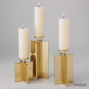 Axis Brass Medium Candleholder