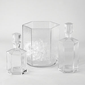 Tall Hex Decanter