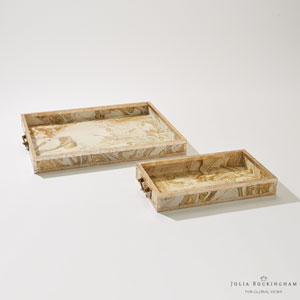 Treasure Large Gold and Cream Tray