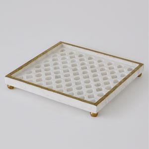Marble Gem Lattice Tray