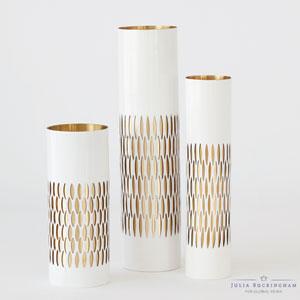 White Medium Bracelet Vase