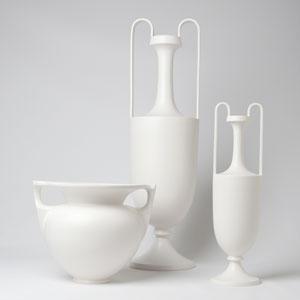 Roger Thomas Matte White Medium Grecian Amphora Only