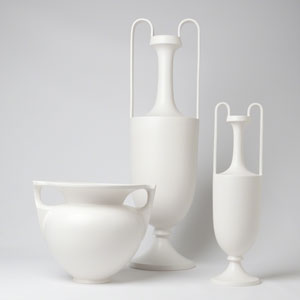 Roger Thomas Matte White Small Grecian Amphora Only