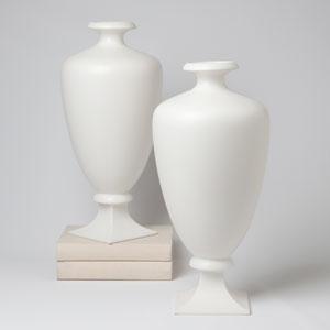 Square Round Matte White Vase
