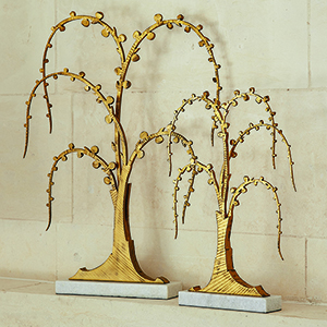 Studio A Small Antique Gold Lyric Sculpture