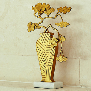 Studio A Ming Antique Gold Bonsai Sculpture