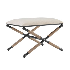 Hannah Black Accent Stool