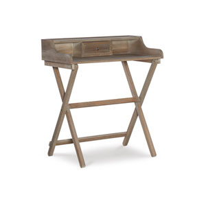 Coy Rustic Brown Folding Desk