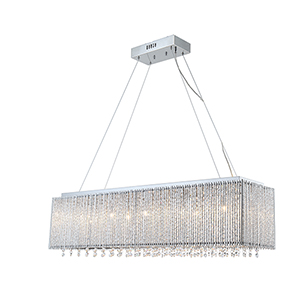 Spyre Chrome 10-Light LED Chandelier