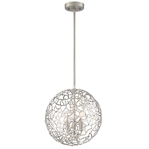 Helios Satin Nickel 14-Inch Three-Light Pendant