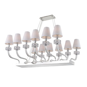 Abigail Chrome 12-Light Chandelier