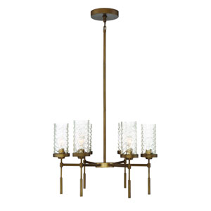 Triticus Antique Brass 6-Light Chandelier