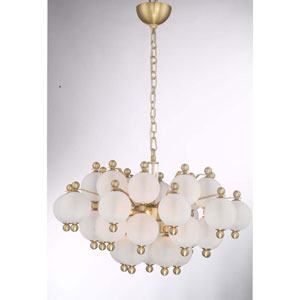 Rondure Polished Nickel Ten Light Chandelier