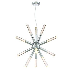 Empire Chrome LED Starburst Pendant