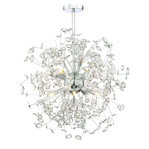 Meadow Chrome Twelve Light Globe Pendant