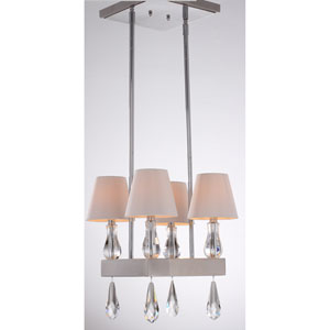 Sophia Chrome 14-Inch Four-Light Chandelier
