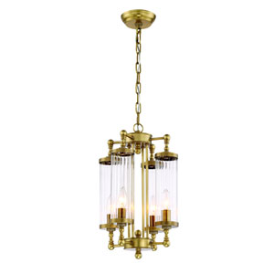 Regis Aged Brass Four Light Twelve Inch Pendant
