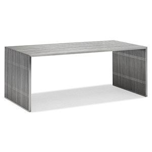 Novel Brushed Stainless Steel Dining Table