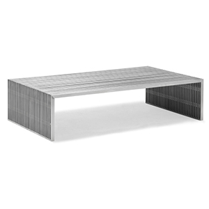 Novel Brushed Stainless Steel Long Coffee Table