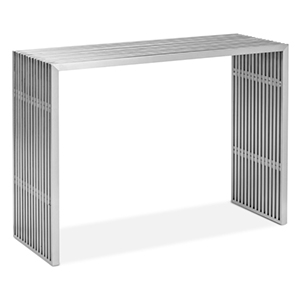 Novel Brushed Stainless Steel Console Table