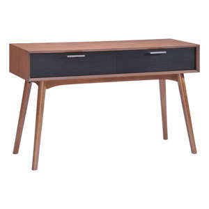 Liberty City Console Table Walnut and Blk