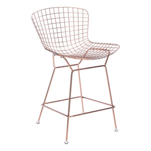Wire Counter Chair Rose Gold (Set of 2)