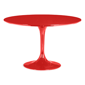 Wilco Red and Fiberglass Dining Table