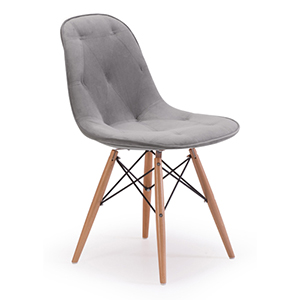 Probability Gray and Beech Wood Side Chair