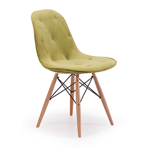 Probability Green and Beach Wood Side Chair