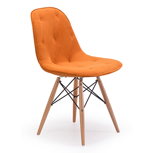 Probability Orange and Beech Wood Side Chair