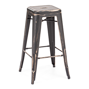 Marius Black and Steel Bar Chair