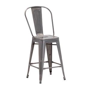 Elio Counter Chair Gunmetal